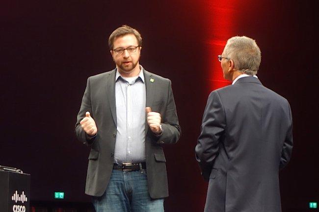 Todd Nightingale, vice-président et directeur général de Cisco Meraki, à Milan pour le Cisco Live 2015. (crédit : S.L.)