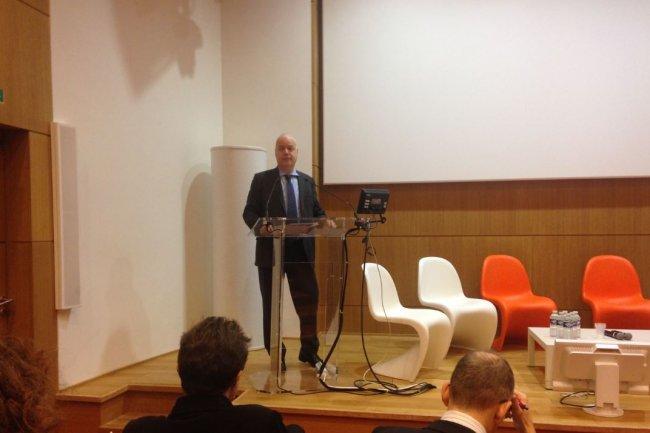 Le DRH d'Orange, Bruno Mettling, a parlé des impacts des outils numériques sur le Code du travail, lors d'un pouint presse. Crédit: D.R