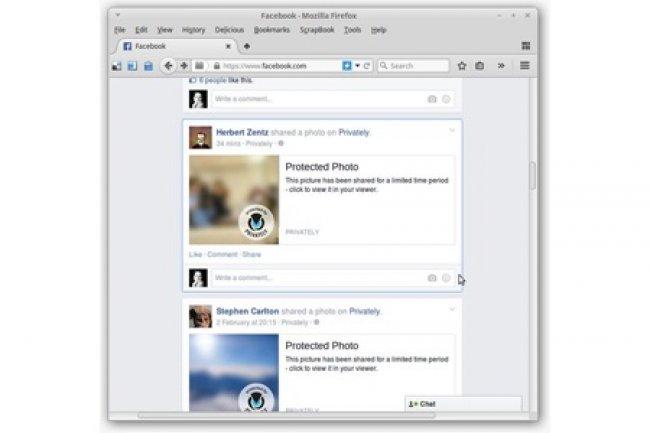 Gr�ce � l'application Privately, seules les personnes autoris�es pourront voir vos photos sur Facebook. (Cr�dit photo Privately).