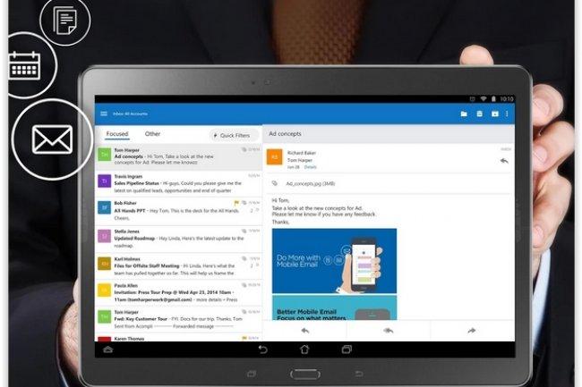 Microsoft tente de désamorcer la polémique en enjoignant les organisations sceptiques sur la sécurité de son app Outlook pour iOS et Android de se tourner vers Outlook Web Acdcess. (crédit : D.R.)