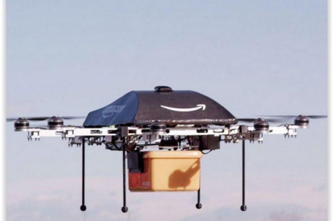 Amazon a présenté sa technologie de livraison par drones, Prime Air, en décembre 2013. (crédit : D.R.)