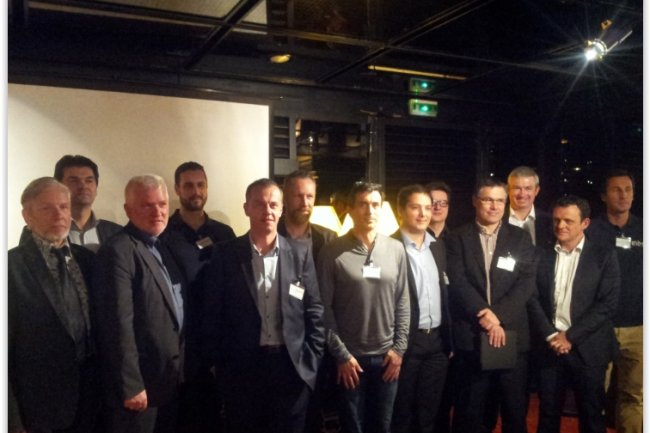 Les éditeurs lyonnais en force à Paris lors de l'événement vitrine d'excellence du numérique Lyon-Grenoble co-organisé par Gtec et Grilog-Edit. (crédit : D.F.)