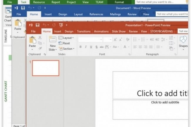 Office 2016 est disponible en version Technical Preview. (crédit : D.R.)