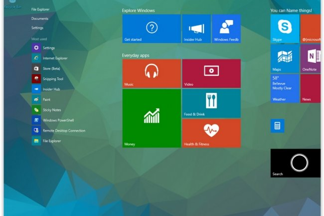 Windows 10 Build 10041 Bureau virtuel amlior et Cortana en