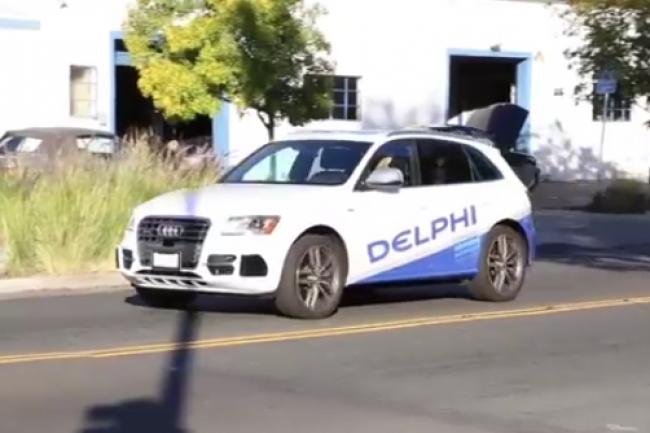 L'Audi SQ5 spécialement équipée par Delphi partira le 22 mars de SF pour rejoindre NY. (D.R.)
