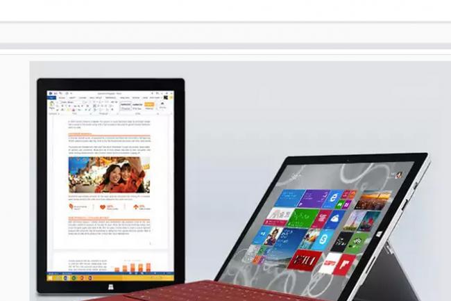 Fiducial et Microsoft proposent un pack combinant une tablette Surface Pro, Office 365 et des applicatifs métiers. (DR)