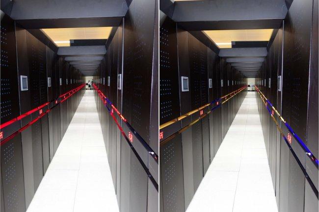 Plus de puces Intel Xeon pour les supercomputers chinois utilisés pour les tests nucléaires comme le Tianhe-2,. Crédit D.R.