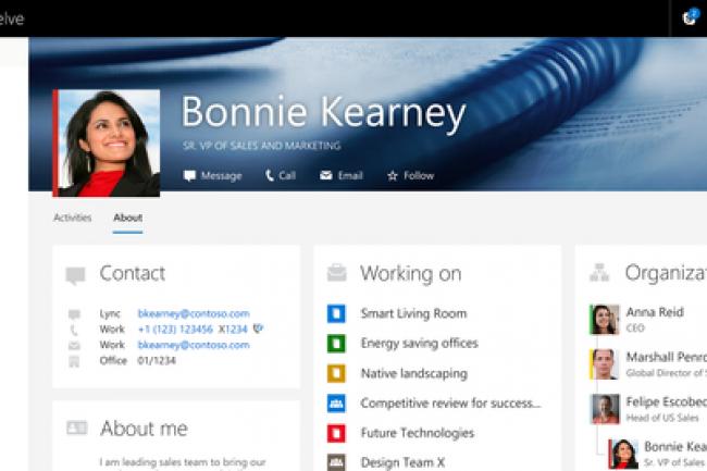 Delve se pare de fonctions empruntées à Facebook et LinkedIn.