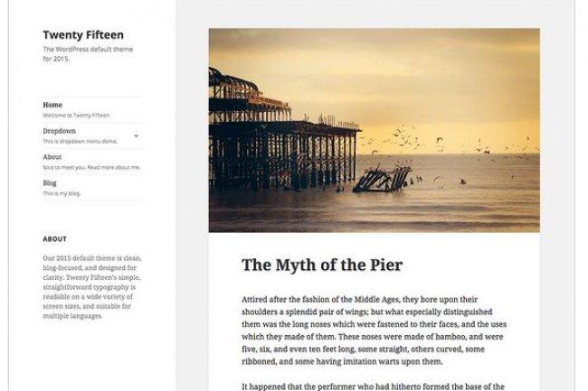 Le plug-in Twenty Fifteen, installé par défaut par WordPress, comporte une faille liée au package Genericons. (crédit : D.R.)