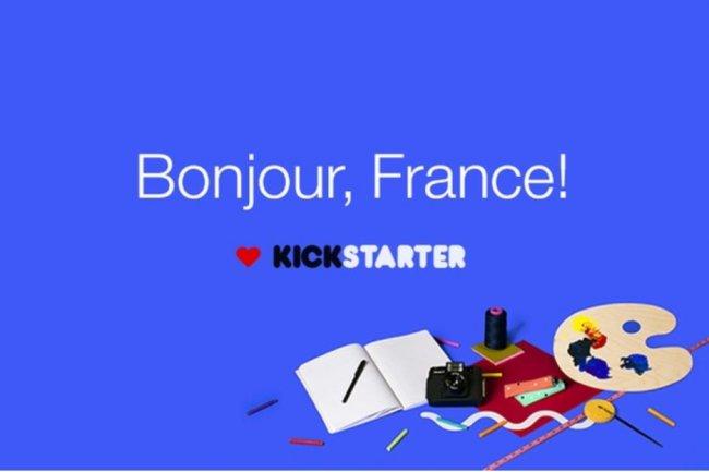 La plate-forme de crowdfunding Kickstarter est désormais disponible en version française. Crédit : D.R