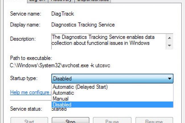 Pour désactiver le spyware de Microsoft dans Windows, il suffit d'aller dans le gestionnaire de Services. (crédit : D.R.)