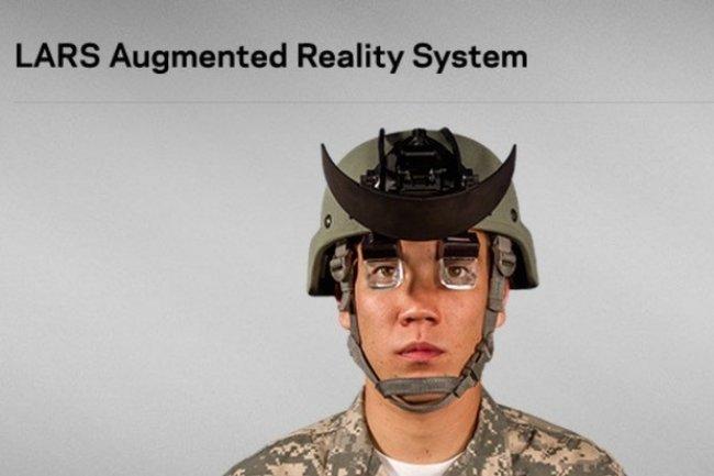 Les lunettes connectées fournies par SA Photonics sont spécialement adaptées aux besoins des soldats. (crédit : D.R.)
