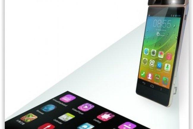 Lenovo A Devoile Smart Cast Un Concept De Smartphone Dote Dun Projecteur Laser
