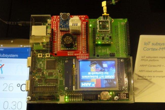 Au Computex 2015, ARM a dévoilé ses premières puces Cortex-M destinées aux objets connectés. (crédit : D.R.)