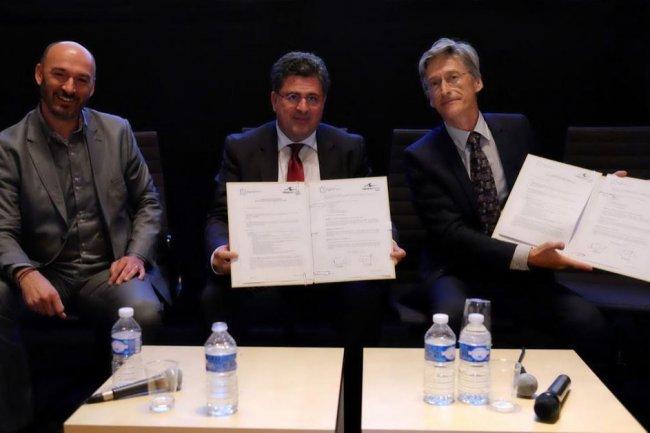 De gauche à droite: Emmanuel Mouton PDG  de Synox Group, Daniel Benchimol président de DigitalPlace et Pierre Deniset, président de FrenchSouth.digital. Crédit: D.R