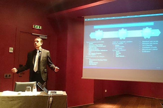 Ivan Berlinson, directeur technique chez Cisco Advanced Malware Protection, lors de la présentation des nouvelles menaces à Paris le 9 juin.