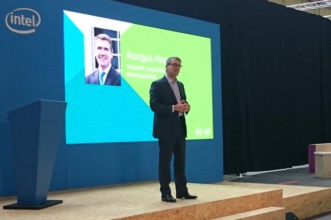 Aongus Hegarty, président de Dell EMEA, est revenu en aparté sur le split de HP. (crédit : D.R.)