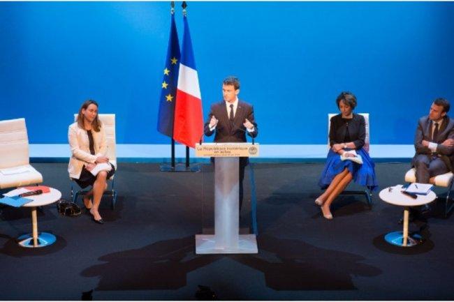 Le Premier Ministre Manuel Valls a pr�sent� le 18 juin 2015 la strat�gie num�rique du Gouvernement. (cr�dit : D.R.)