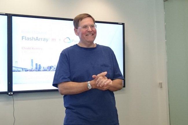 John Colgrove, CTO et cofondateur de Pure Storage, envisage l'avenir avec sérénité. (crédit : LMI)
