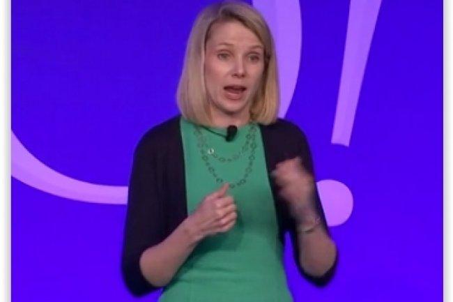 Marissa Mayer, CEO de Yahoo, a présenté le partenariat signé avec Oracle à l'occasion de l'annonce des résultats financiers de son groupe. (crédit : D.R.)