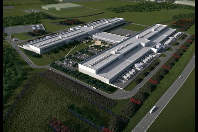 Facebook a réalisé une maquette 3D de son prochain datacenter de Fort Worth, au Texas. (crédit : D.R.)
