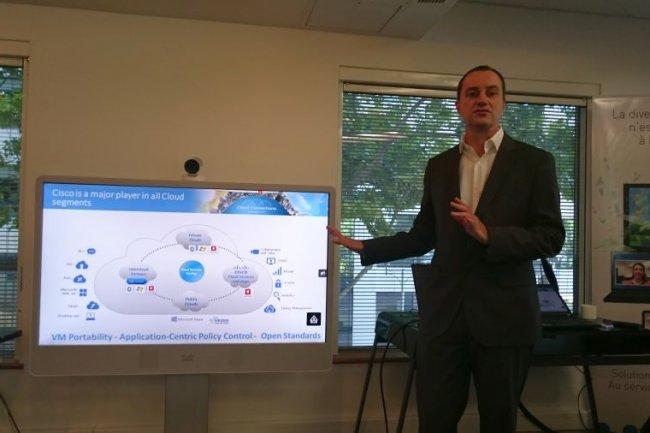 Christophe Labro, en charge du cloud chez Cisco France. (crédit : LMI)