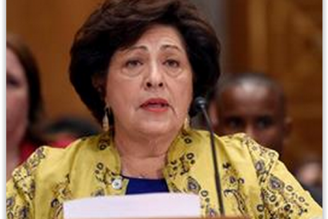 Poussée à la démission par certains députés après l'annonce du vol de 21,5 millions de données personnelles , Katherine Archuleta, directrice de l'Office of Personnel Management, n'a pas l'intention de partir. (crédit : D.R.)