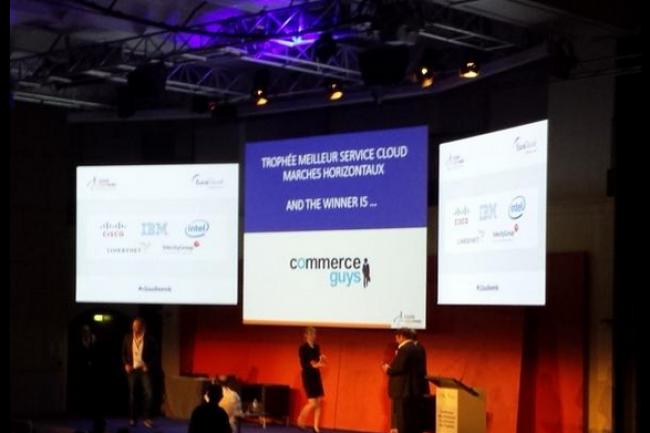 Commerce Guys, pour son offre platforme.sh, a reçu le trophée du meilleur service cloud pour les marchés horizontaux. (crédit : D.R.)