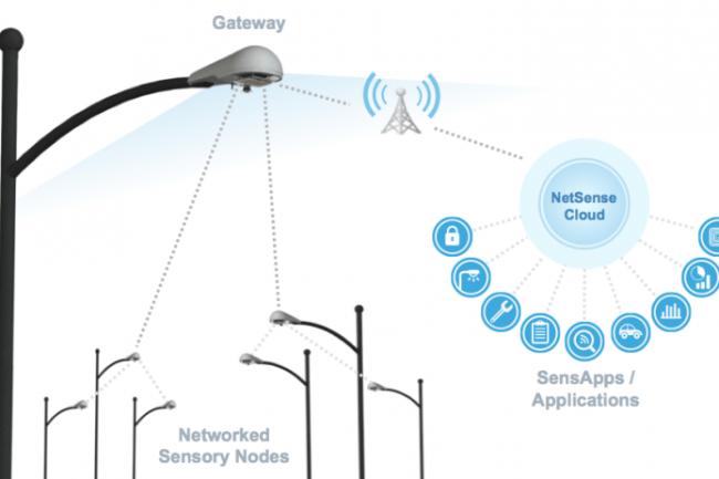 Les lampadaires connectés de Sensity échangent des informations sur leur envirronnement.