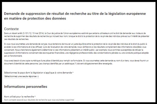 La CNIl avait ordonné en juin dernier à Google d'étendre le droit à l'oubli à toutes les versions de son moteur. (crédit : D.R.)