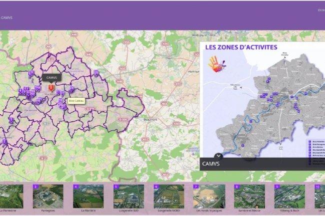 En s'appuyant sur la plateforme ArcGis d'Esri, la CAMVS a pu déployer une série de services reposant sur la visualisation cartographique de son territoire. (crédit : D.R.)