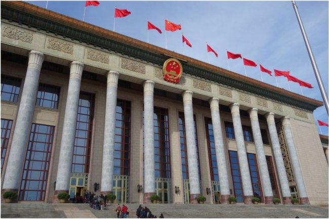Le Parlement chinois, place Tiananmen. (cr�dit : Michael Kan / IDG News Service P�kin)
