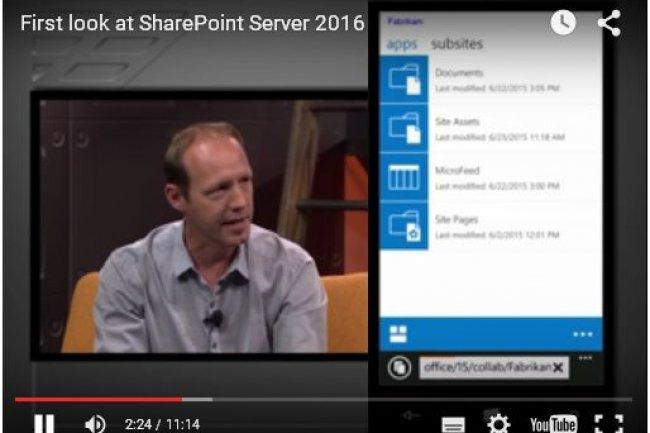 Dans une vidéo, Bill Baer, responsable produit pour SharePoint Server, présente les nouveautés de la version 2016 qui sortira l'an prochain.