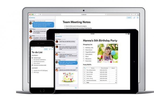 Disponible en version mobile et desktop, la suite bureautique Quip ambitionne de rempalcer Docs ou Office. Crédit: D.R