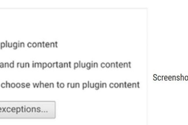 Chrome va automatiquement arrêter les contenus Flash en auto-play peu importants. Crédit : D.R