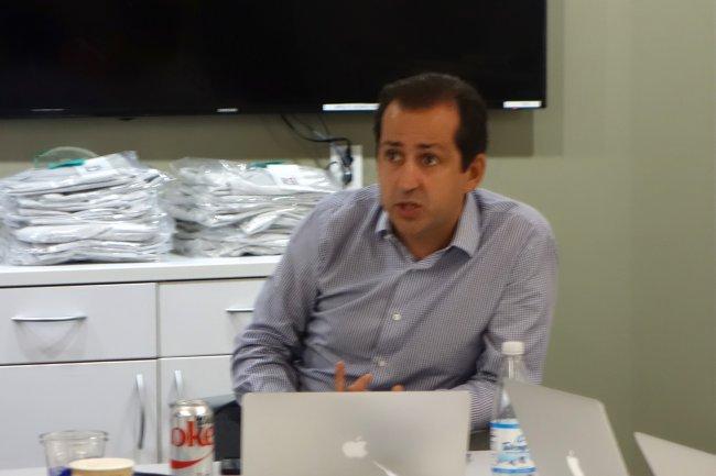 Frédéric Laluyaux, CEO d'Anaplan, a fait ses classes chez Business Objects et SAP. (crédit : LMI)