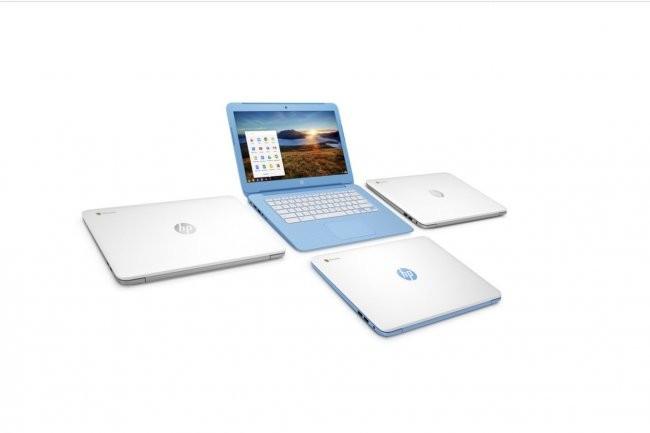 Les derniers Chromebook 14 de HP sont épaulés par un processeur Celeron pour accélérer l'accès à Internet. Crédit: D.R
