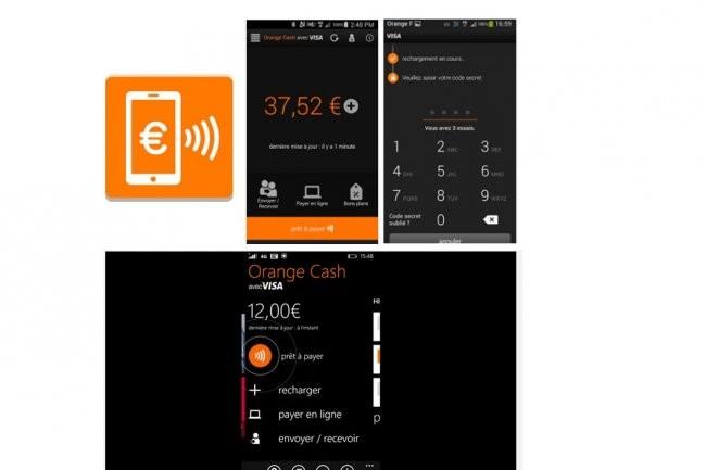 Avec Orange Cash, l'app pour Android ou Windows Phone fournit l'historique des achats effectués sans contact sur le compte prépayé. (crédit : D.R.)