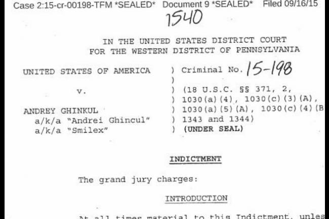La procédure d'extradition vers les Etats-Unis d'Andrey Ghinkul, l'une des têtes pensantes à l'origine du malware Dridex, a été enclenchée. (crédit : D.R.)