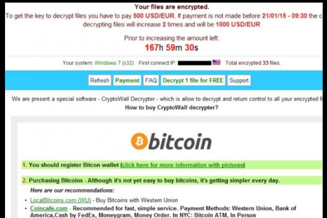 CryptoWall 3.0 fait partie de la famille des ransomwares, des logiciels malveillants particulièrement appréciés par les cybercriminels. (crédit : D.R.)