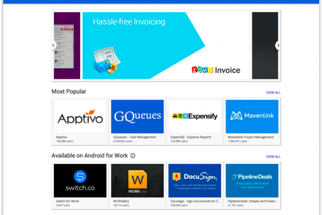 L�Apps Marketplace de Google s�est enrichi de 8 applications pour renforcer la suite Apps for Work. (cr�dit : D.R.)