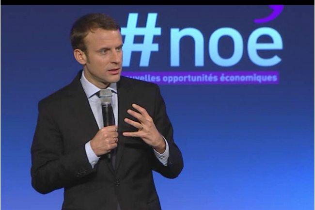 Le ministre de l'Economie Emmanuel Macron veut établir un diagnostic partagé avec les acteurs économiques pour établir les « nouvelles opportunités économiques » (acronyme Noé). (photo : ce matin à Bercy / crédit : D.R.)