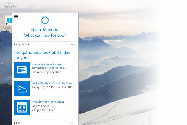 Microsoft veut inciter les utilisateurs à utiliser son assistant Cortana.