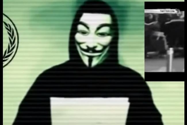 Suite aux attentats de vendredi 13 novembre � Paris, les Anonymous ont annonc� pr�parer l'op�ration la plus importante jamais men�e contre Etat Islamique. (cr�dit : D.R.)