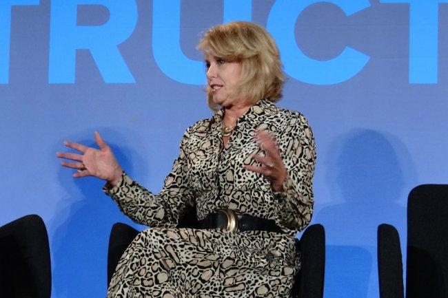 Diane Bryant, vice-présidente senior et directrice du Data Center Group d'Intel, hier à la conférence Structure à San Francisco.