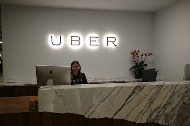 Le siège d'Uber à San Francisco en septembre dernier lors d'un rendez-vous avec les dirigeants de la société. (crédit : Serge Leblal)