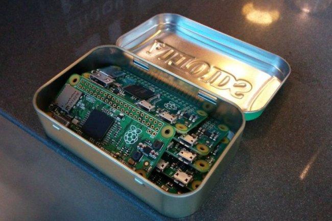 D'une taille mini (65 x 30 mm), le Raspberry Pi Zero arrive au prix canon de 5$ HT. (crédit : Fondation Raspberry)