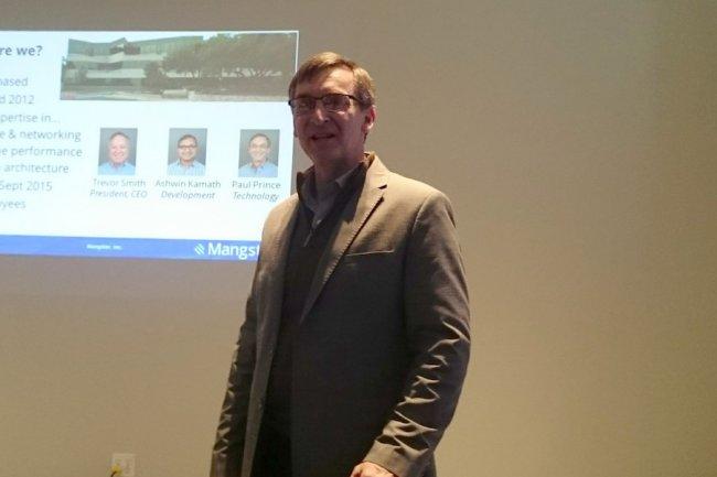 Paul Prince, CTO de Mangstor, annonce des performances 10 fois supérieures au FC 16 Gb avec sa fabric NVMe.