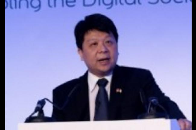 Les premières informations sur les résultats de Huawei en 2015 ont été communiquées par Go Ping, son président en charge de l'activité terminaux mobiles grand public, dans une lettre ouverte à ses équipes. Crédit photo : D.R.